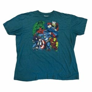 Marvel Avengers Comic Style Graphic T-Shirt